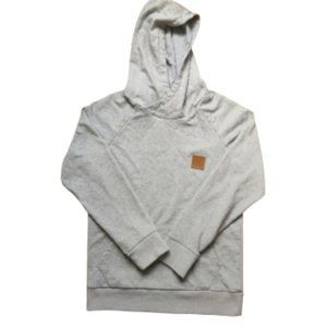Will & You gray sweater with brown logo patch